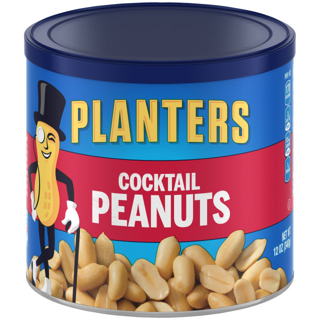 PLANTERS Cocktail Peanuts 12 oz Can image