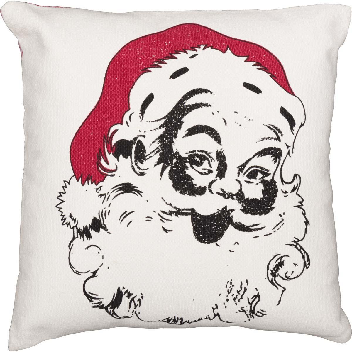 Emmie Vintage Santa Pillow 18x18