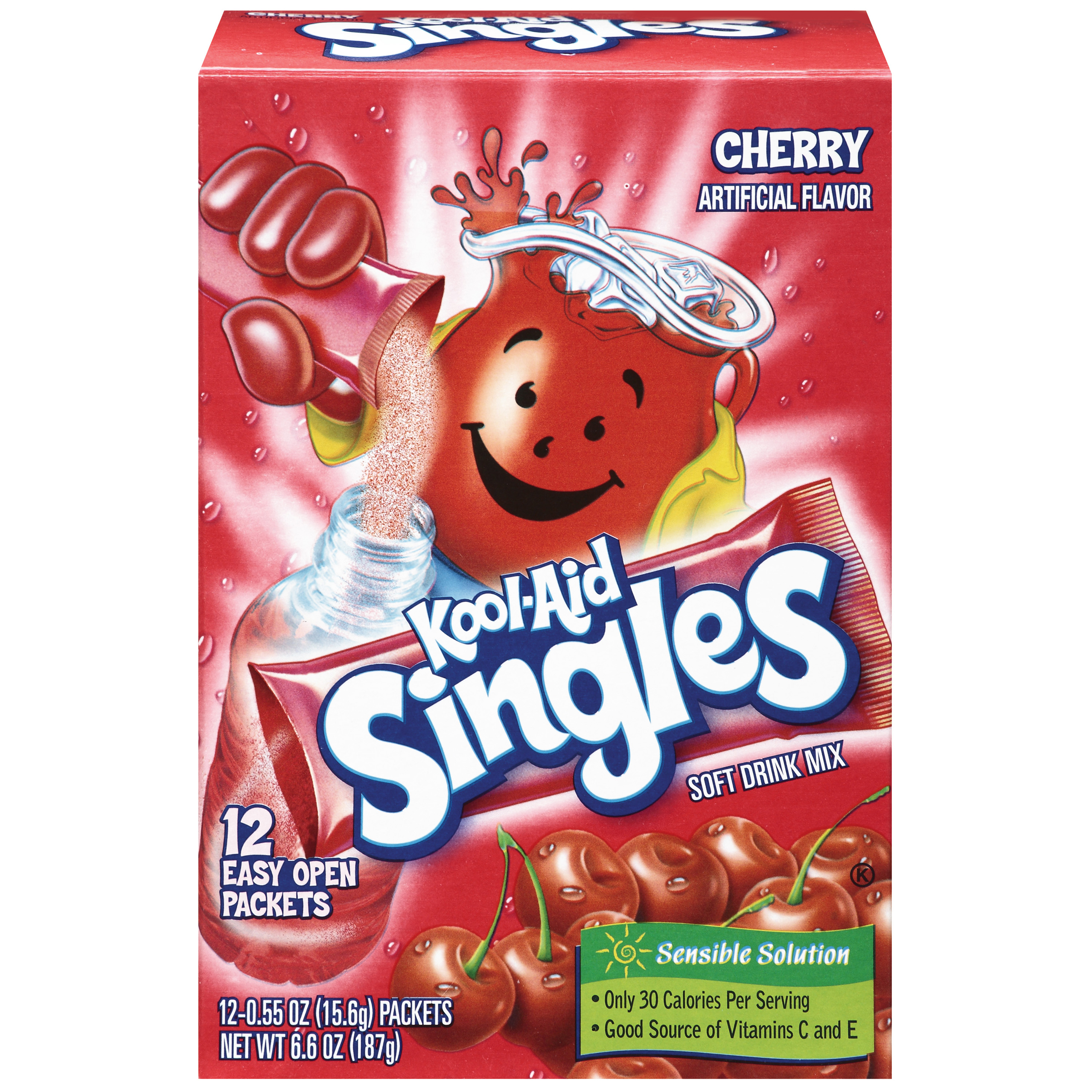Kool-Aid Singles Cherry 12 Ct Soft Drink Mix 6.6 Oz Box image