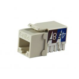 Almond Cat5e 90-Deg Keystone Jack Wave Electronics