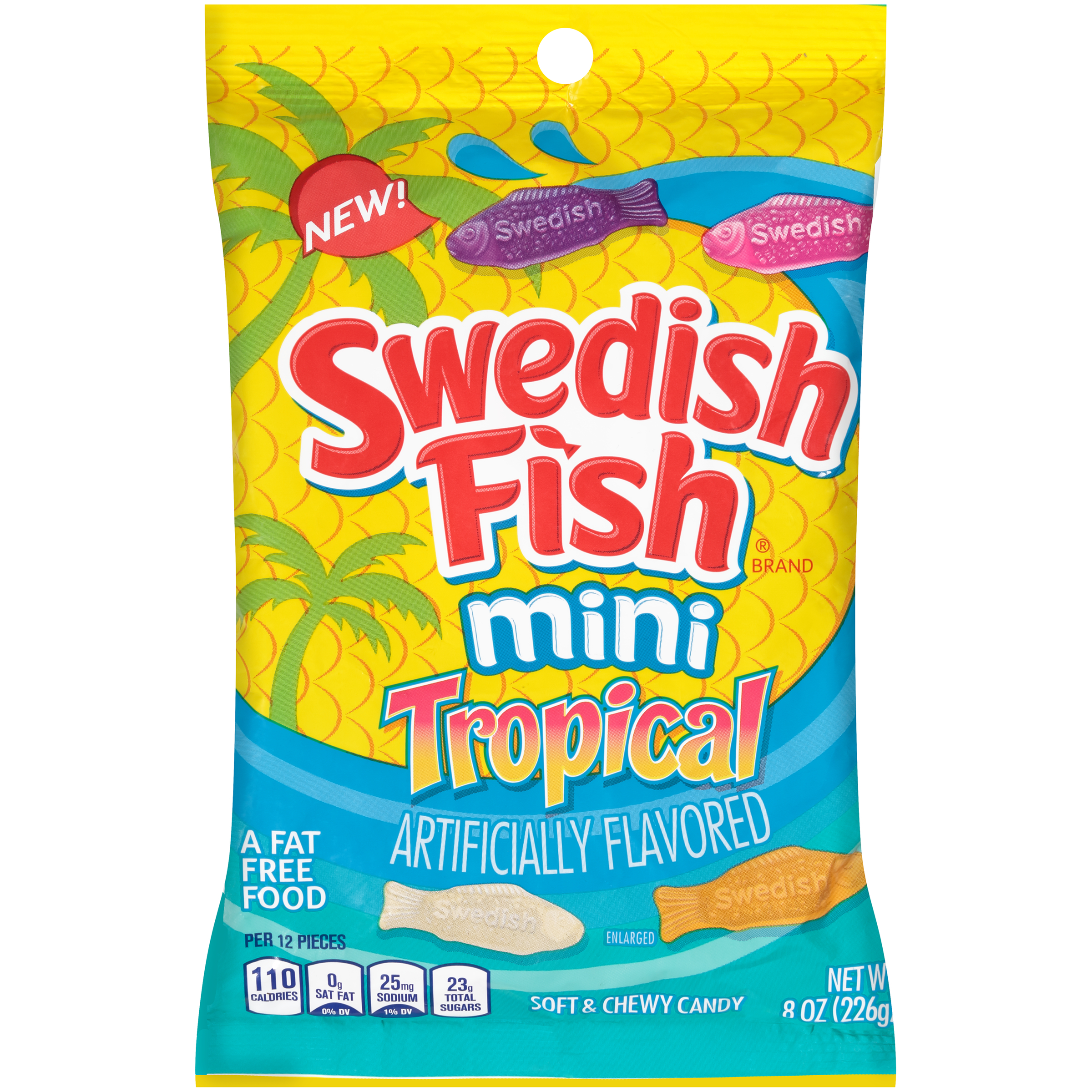 SWEDISH FISH Tropical Soft Candy 8 oz
