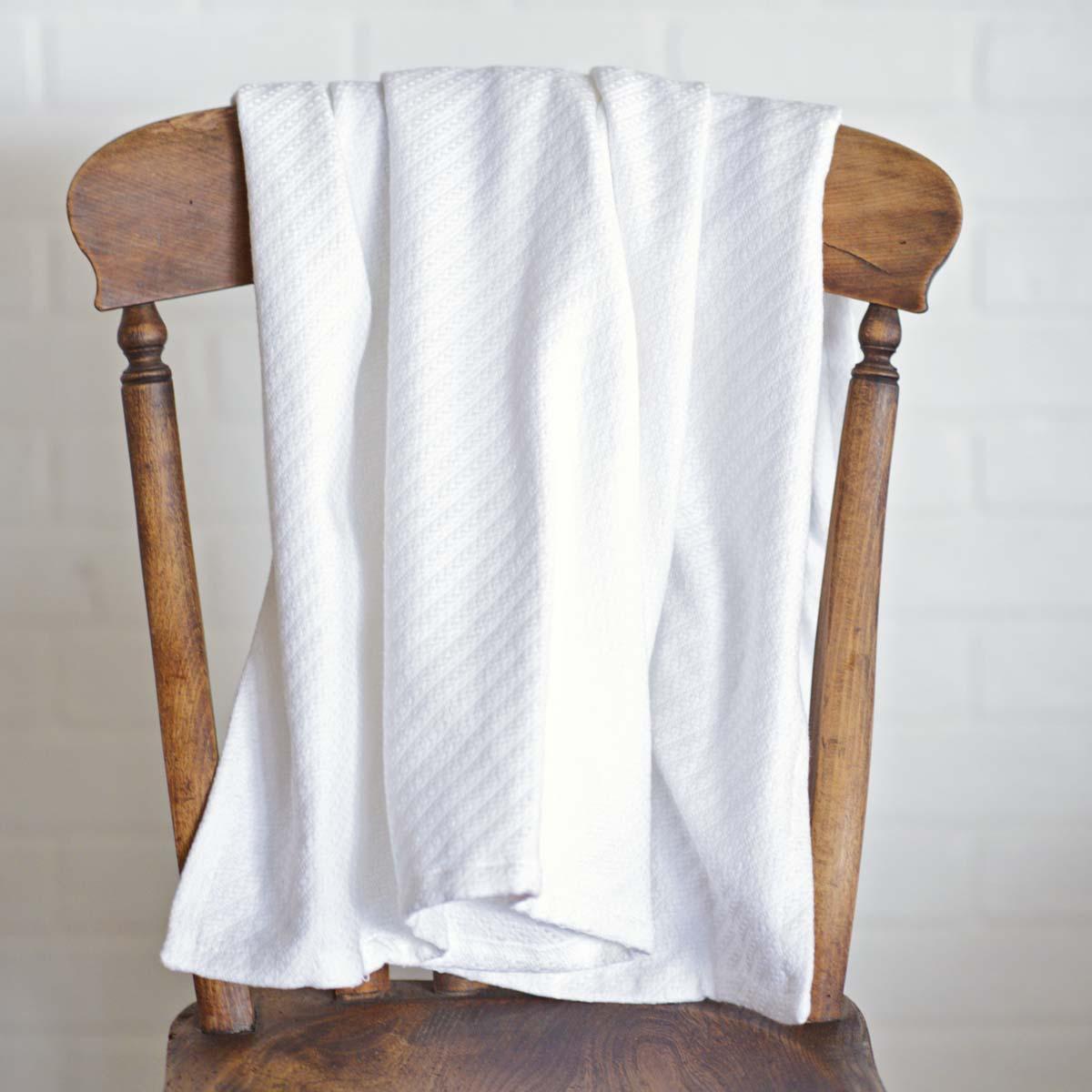 White Baby Blanket 48x36