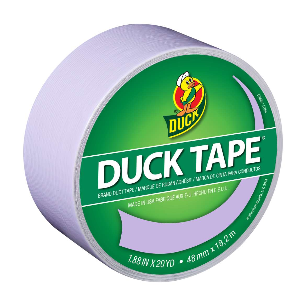 Color Duck Tape® Brand Duct Tape - Lilac, 1.88 in. x 20 yd. Image
