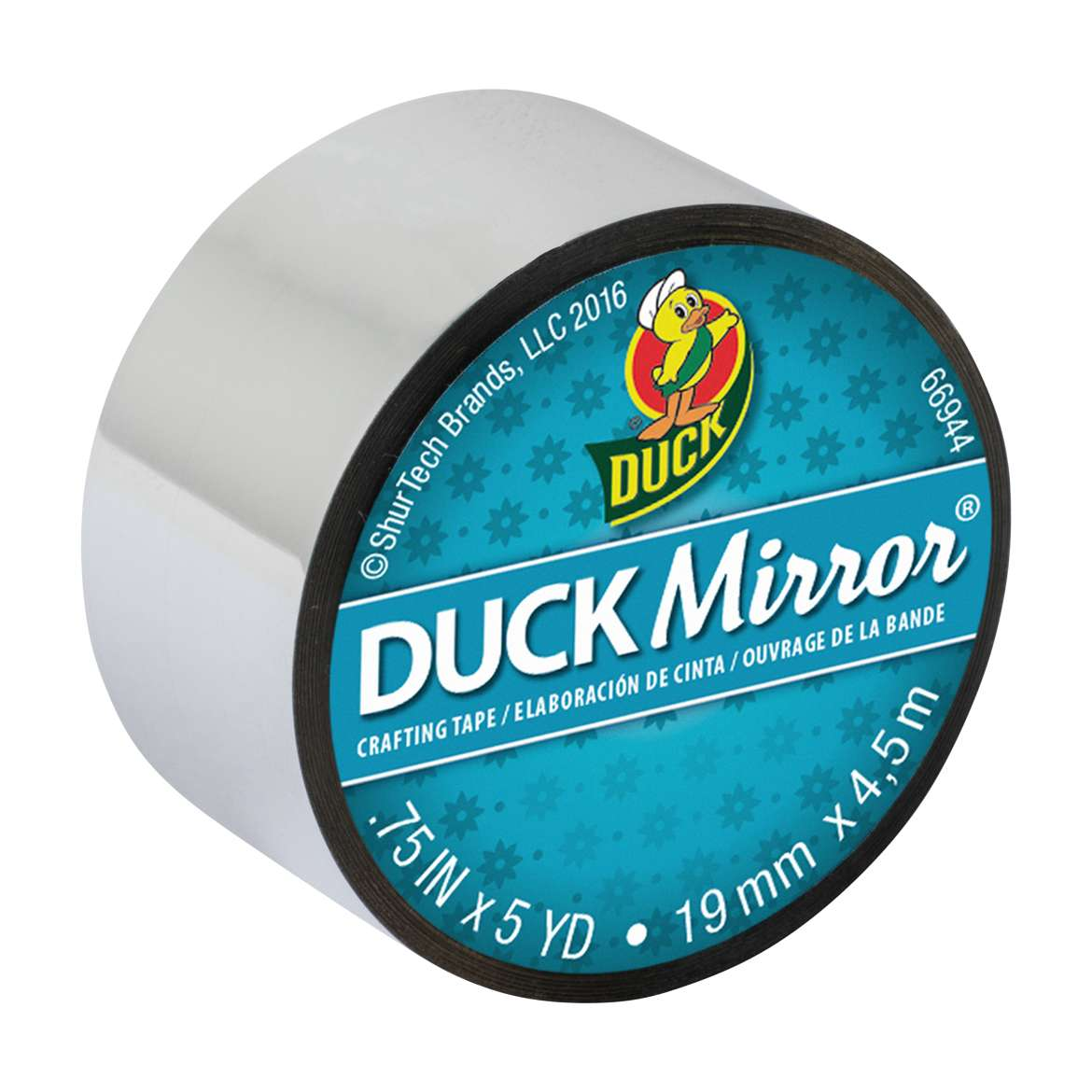 Duck Mirror® Crafting Tape - Silver, 0.75 in. x 5 yd. Image