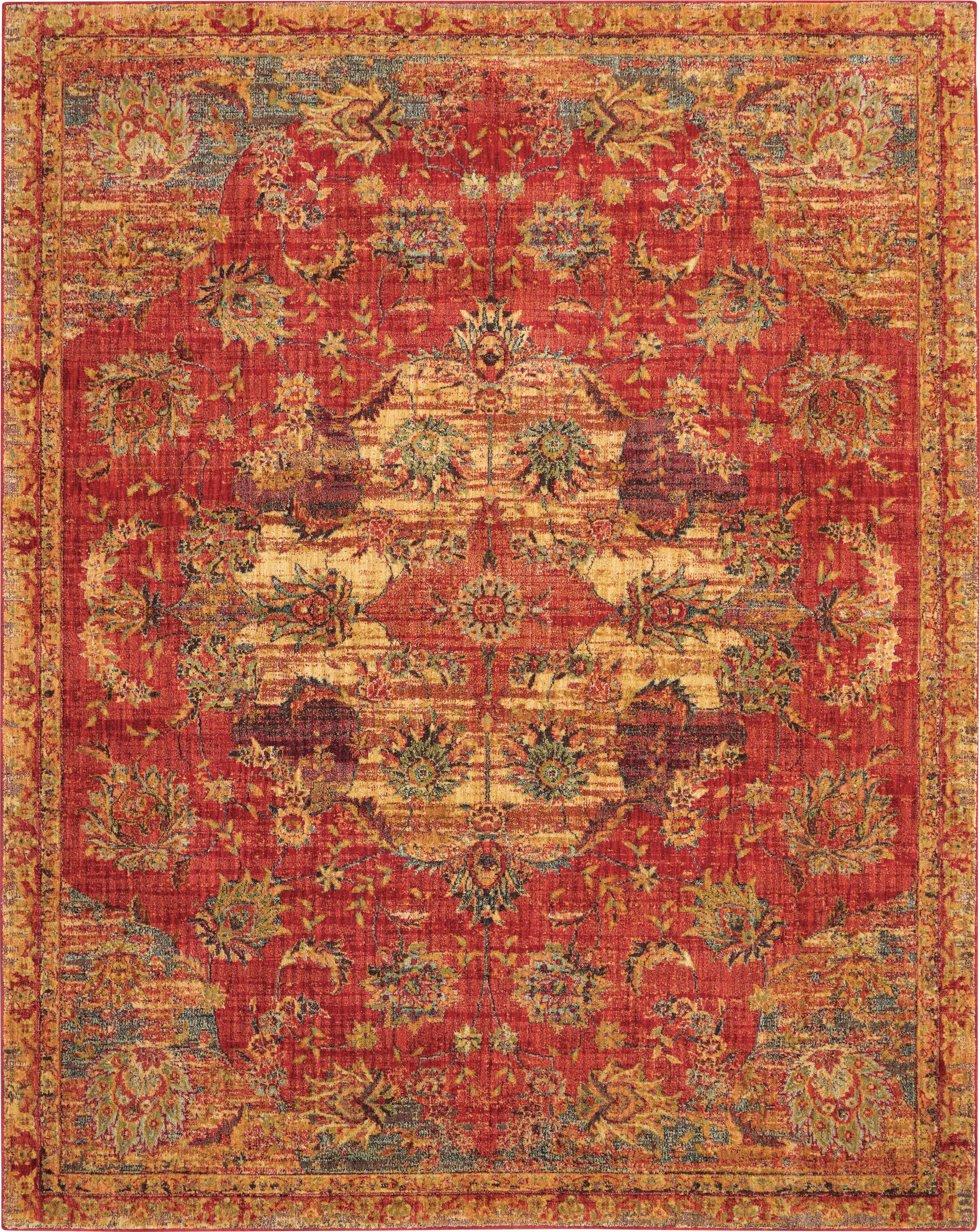 Nourison Jewel 8' X 10' Red Oushak Area Rug