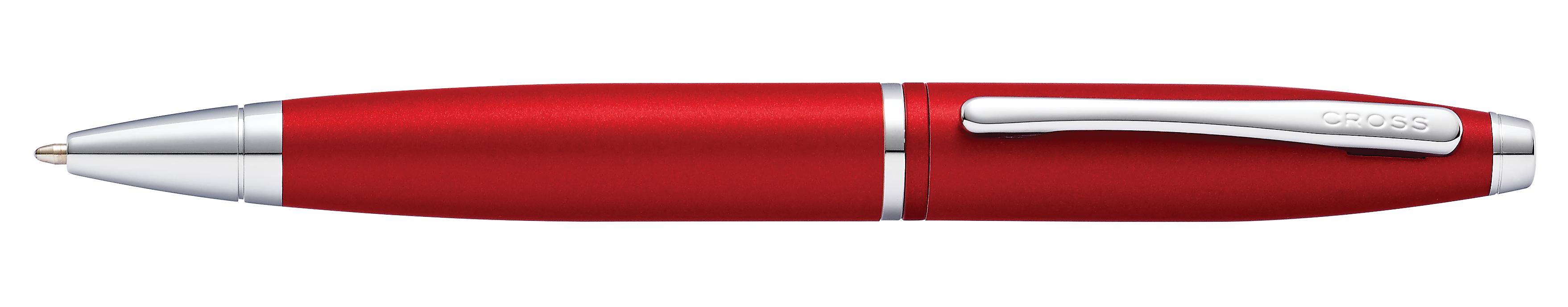 Calais Matte Metallic Crimson Ballpoint Pen