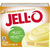 Jell-O Banana Cream Instant Pudding 3.4 oz Box