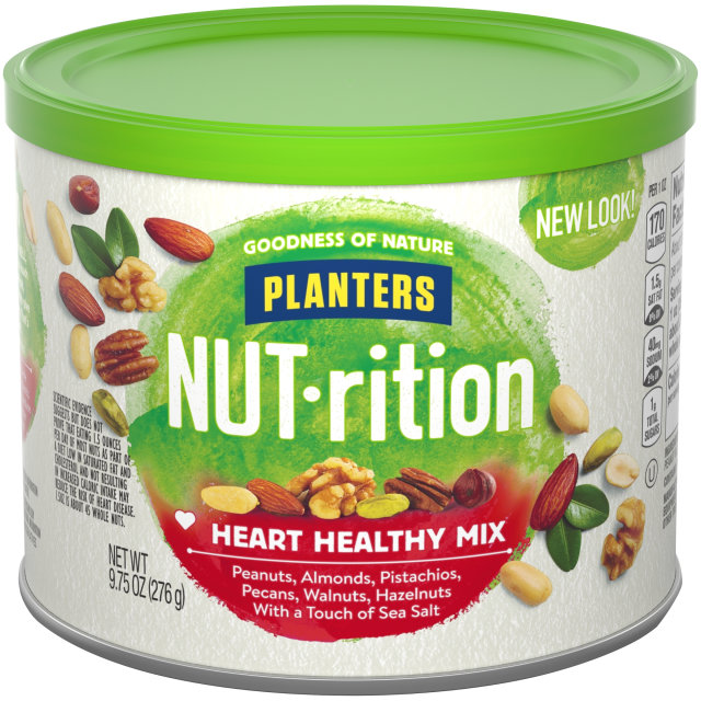 PLANTERS NUT-rition Heart Healthy Mix 9.75 oz Can image