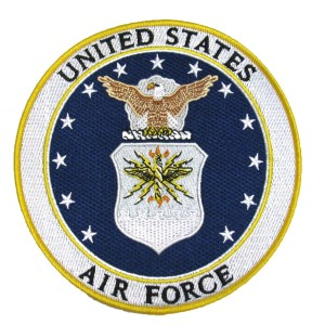 Embroidered Military Patch- AIR FORCE