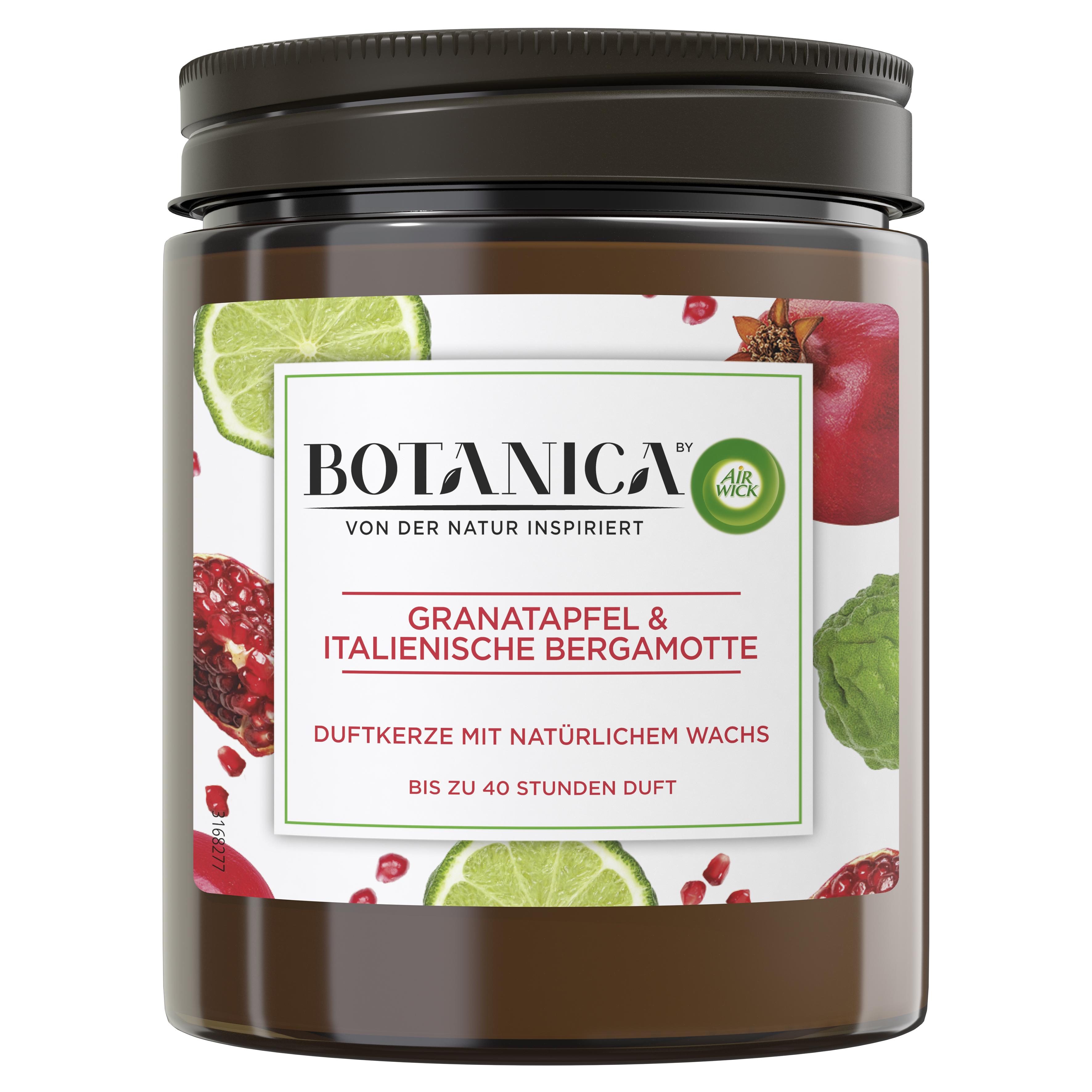 Air Wick Botanica Duftkerze Granatapfel & Italienische Bergamotte