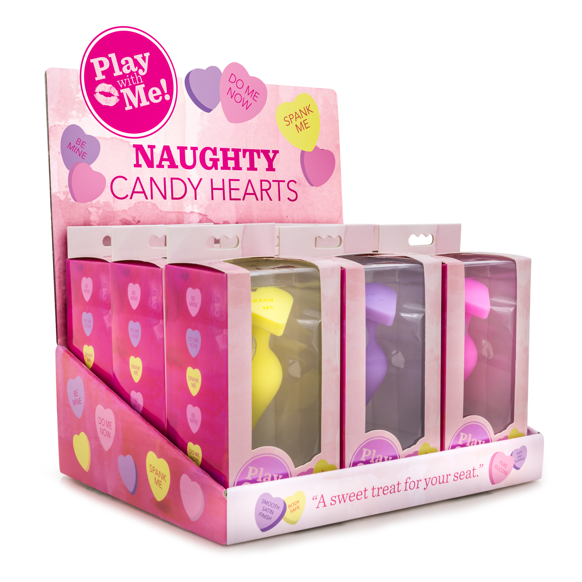 Naughty Candy Hearts - PDQ/POS Display of 9 pieces Assorted