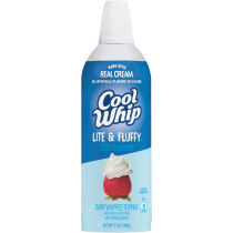 Cool Whip Lite & Fluffy Whipped Topping 7 oz Aerosol Can