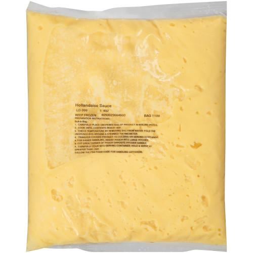 QUALITY CHEF Hollandaise Sauce, 3 lb. Frozen Bag (Pack of 6)