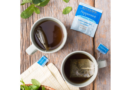 Peppermint Herbal Tea - Case of 6 boxes - total of 120 teabags