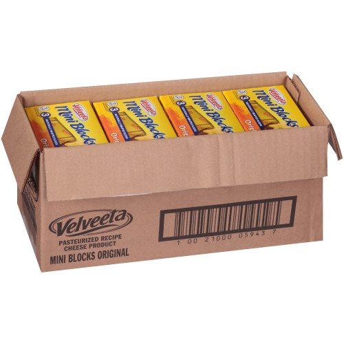 VELVEETA American Cheese Mini Blocks, 12 oz. (Pack of 12)