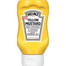 Heinz Yellow Mustard, 8 oz Bottle image
