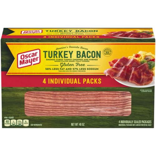 Oscar Mayer Turkey Bacon Box, 48 oz