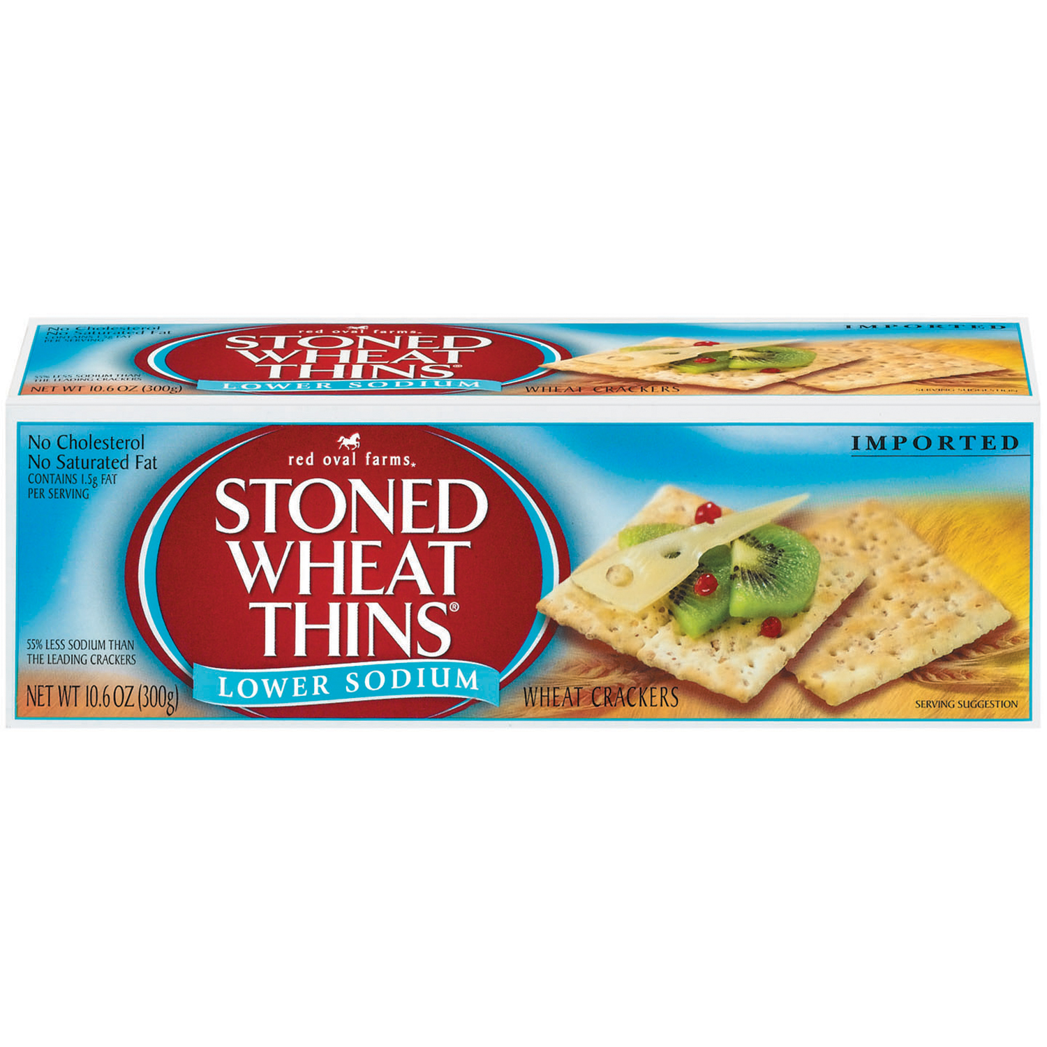 RED OVAL FARMS Stoned Wheat Thins Original Crackers 10.6 oz