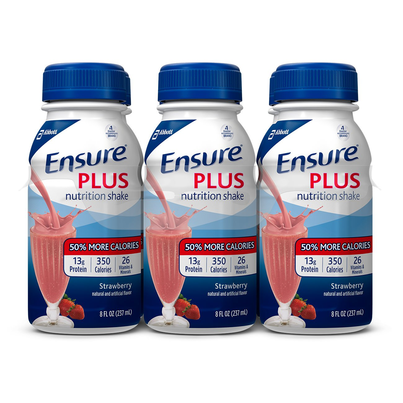 Ensure Plus Strawberry Flavor 8 oz. Bottle Ready to Use, 57269 - Case of 24