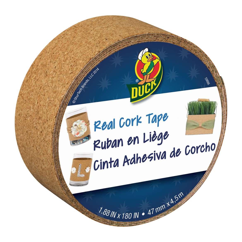 Duck® Brand Cork Tape - Tan, 1.88 in. x 5 yd. Image
