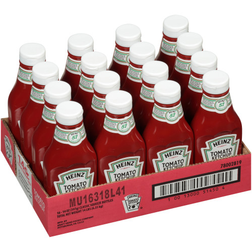 HEINZ Ketchup Thunderbird, 14 oz. Bottles (Pack of 16)