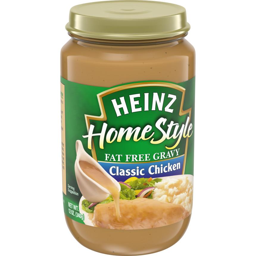 Heinz Home Style Fat Free Classic Chicken Gravy 12 oz Jar