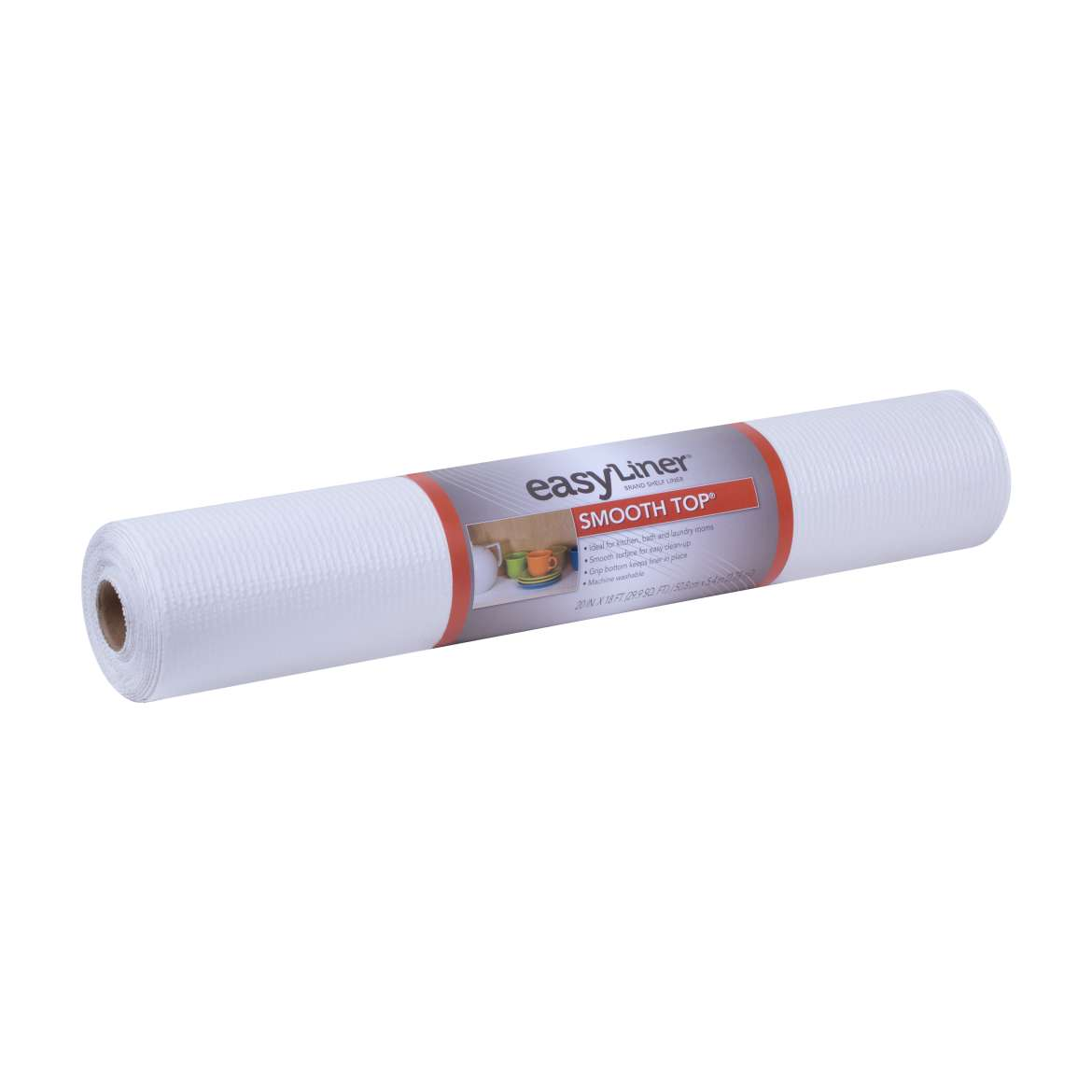 Smooth Top® Easy Liner® Brand Shelf Liner - White, 20 in. x 18 ft. Image