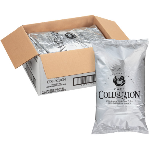 CAFÉ COLLECTIONS Espresso Roast & Ground Coffee, 8 lb Bag (Pack of 2)