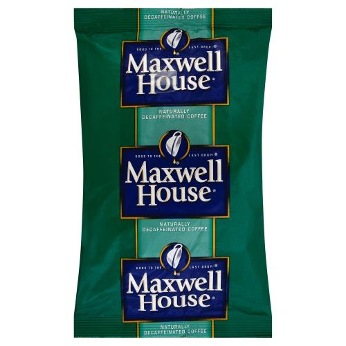 MAXWELL HOUSE Super High Yield Decaffeinated Coffee, 10 oz. Bag (Pack of 16)