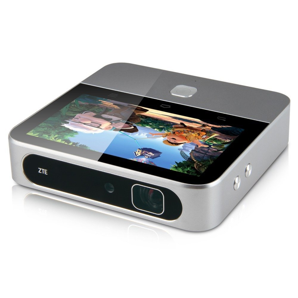 Zte spro2 5 portable wireless wi fi led 200 lumens smart for Best wireless mini projector