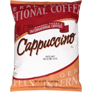 GENERAL FOODS INTERNATIONAL CAFÉ Hazelnut Belgian Cappuccino Powder, 2 lb. Container (Pack of 6) image