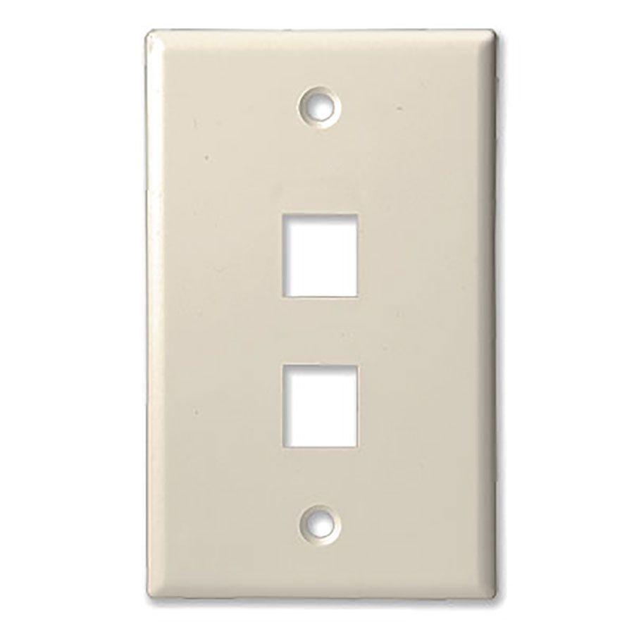2Port Lite Almond KS Wall Plate Wave Electronics