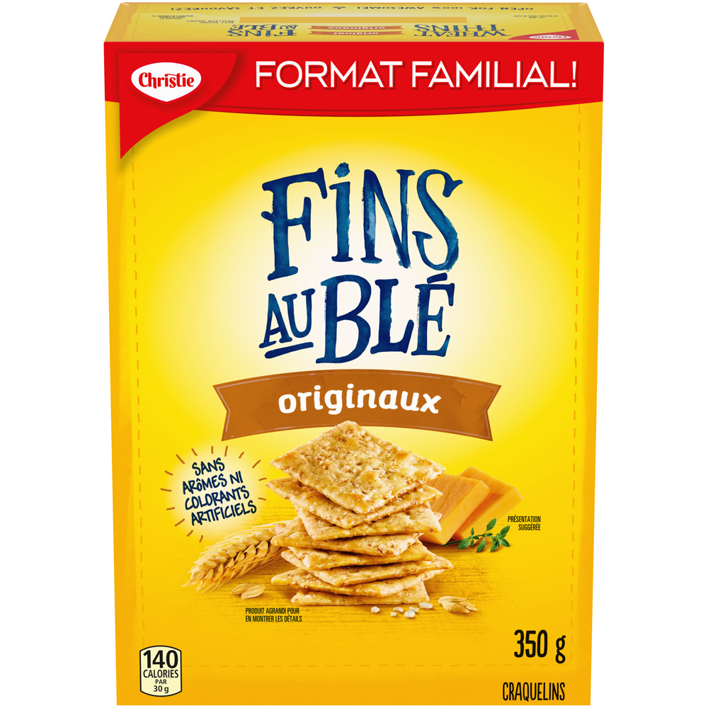 Fins Au Blé Wheat Thins Original Crackers 350 G