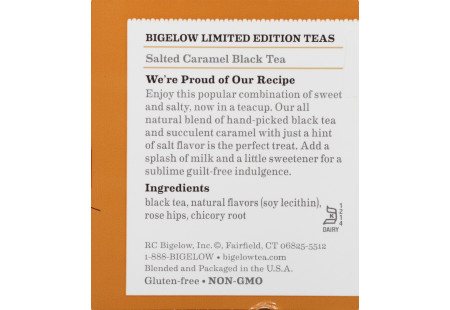 Salted Caramel Black Tea - Case of 6 boxes - total of 120 teabags