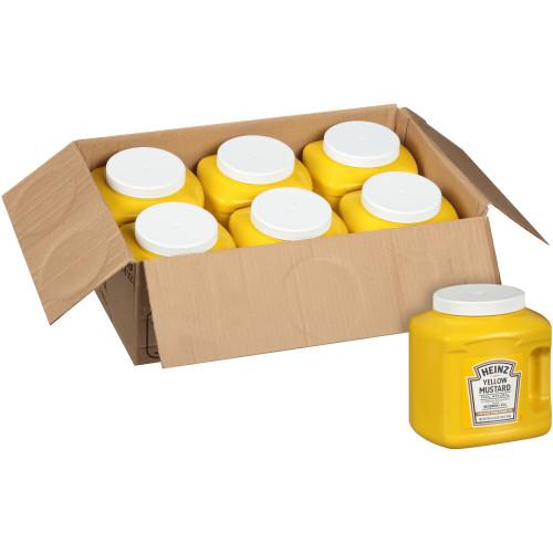 HEINZ Bulk Yellow Mustard Jug, 104 oz. Container (Pack of 6)