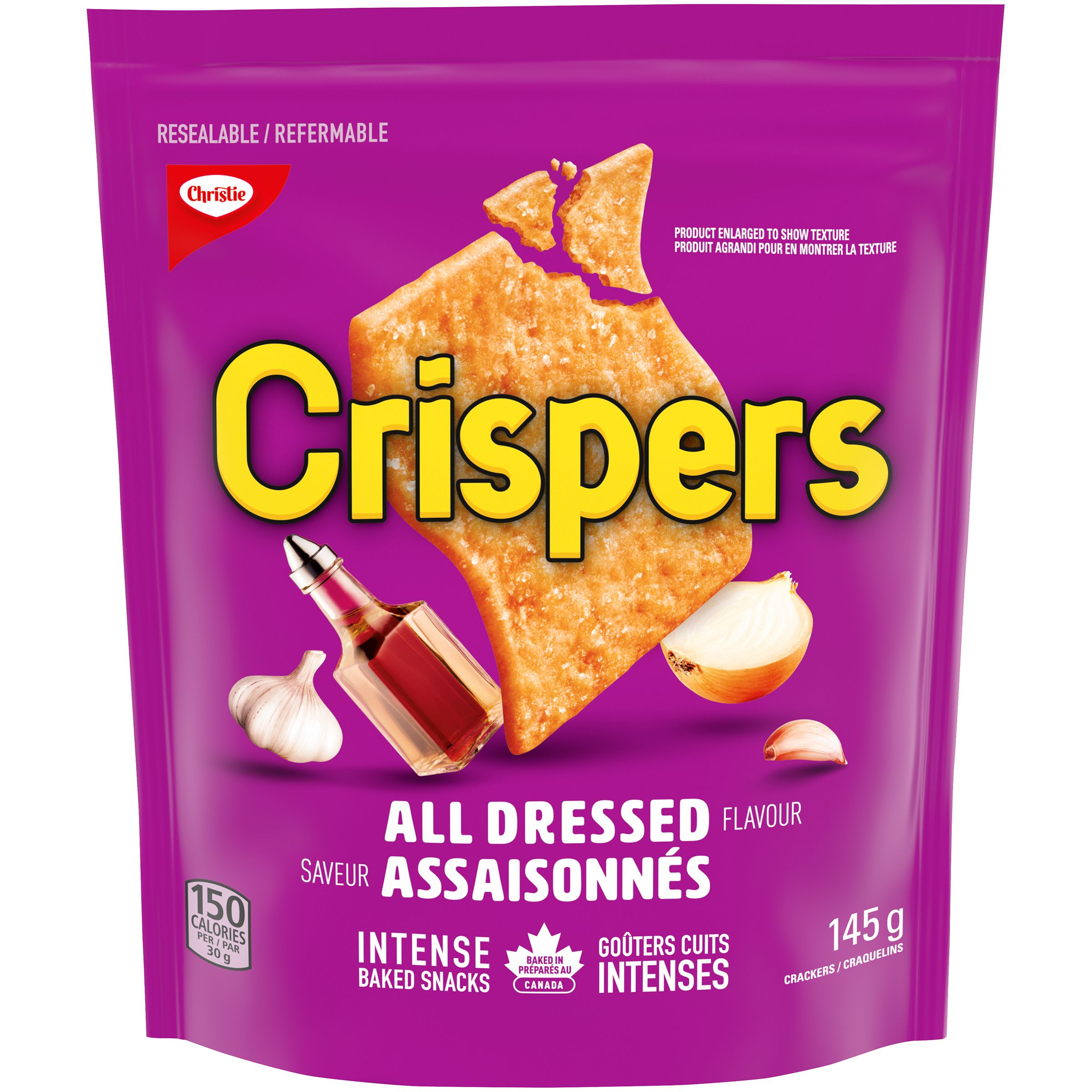 Crispers All Dressed Crackers 145 G