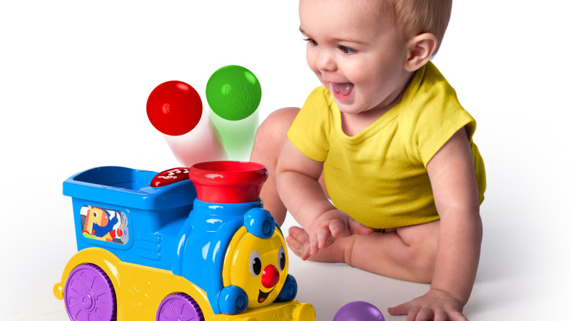 Roll & Pop Train™ Toy - great for young toddlers