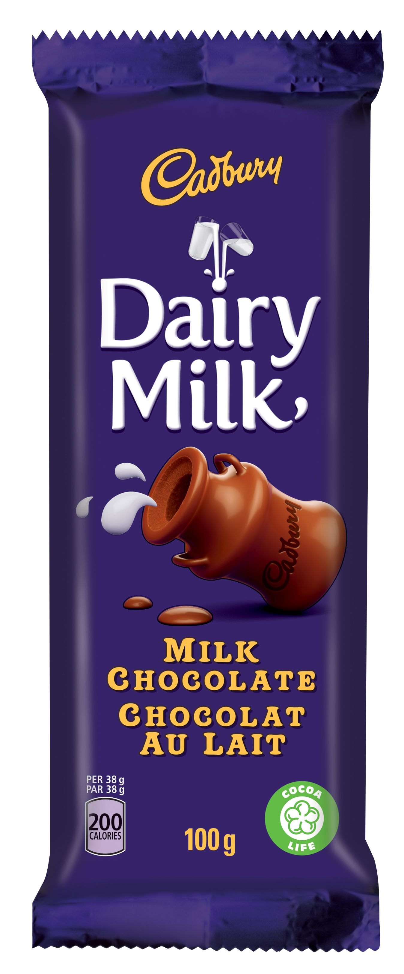 CADBURY DAIRY MILK  MILK CHOCOLATE 100 GRM