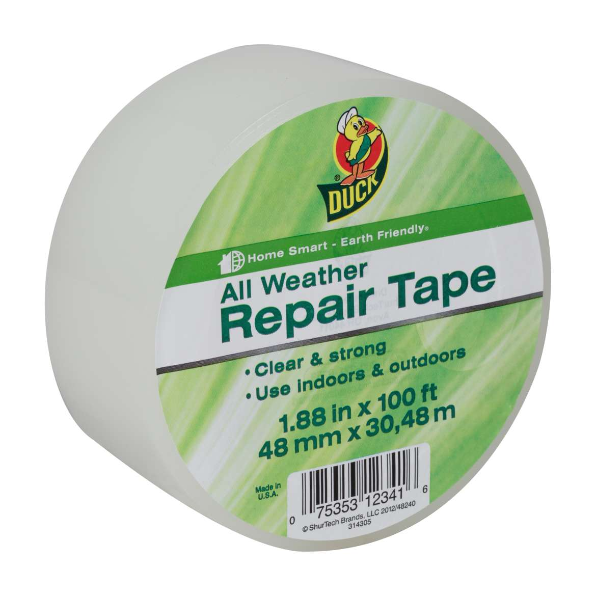 Duck® Brand All Weather Repair Tape - Clear, 1.88 in. x 100 ft. Image