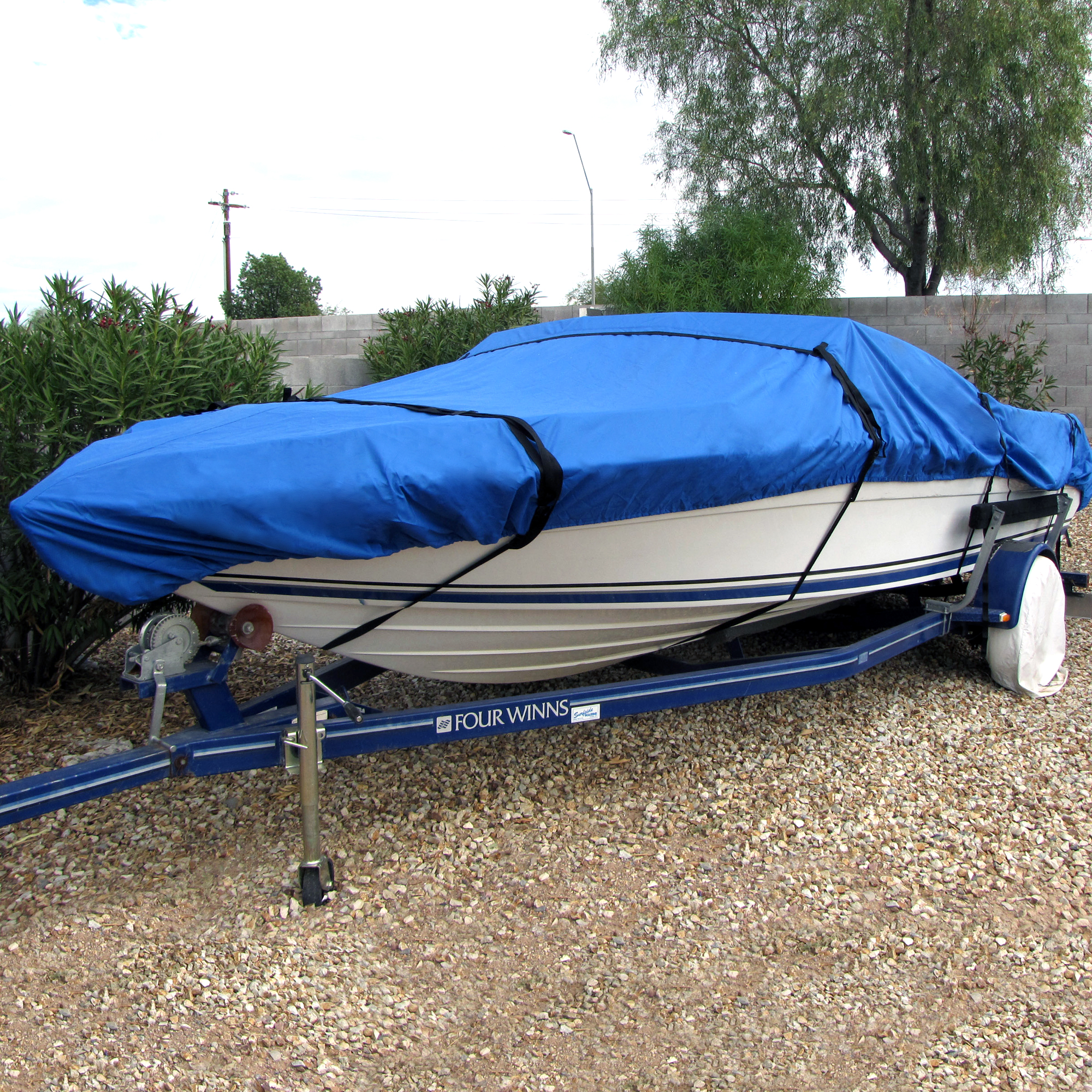 Boat-Cover-1200D-Waterproof-V-Hull-Fishing-Boat-Beam-69-034-106-034-Wide-12-039-26-039-Long thumbnail 12