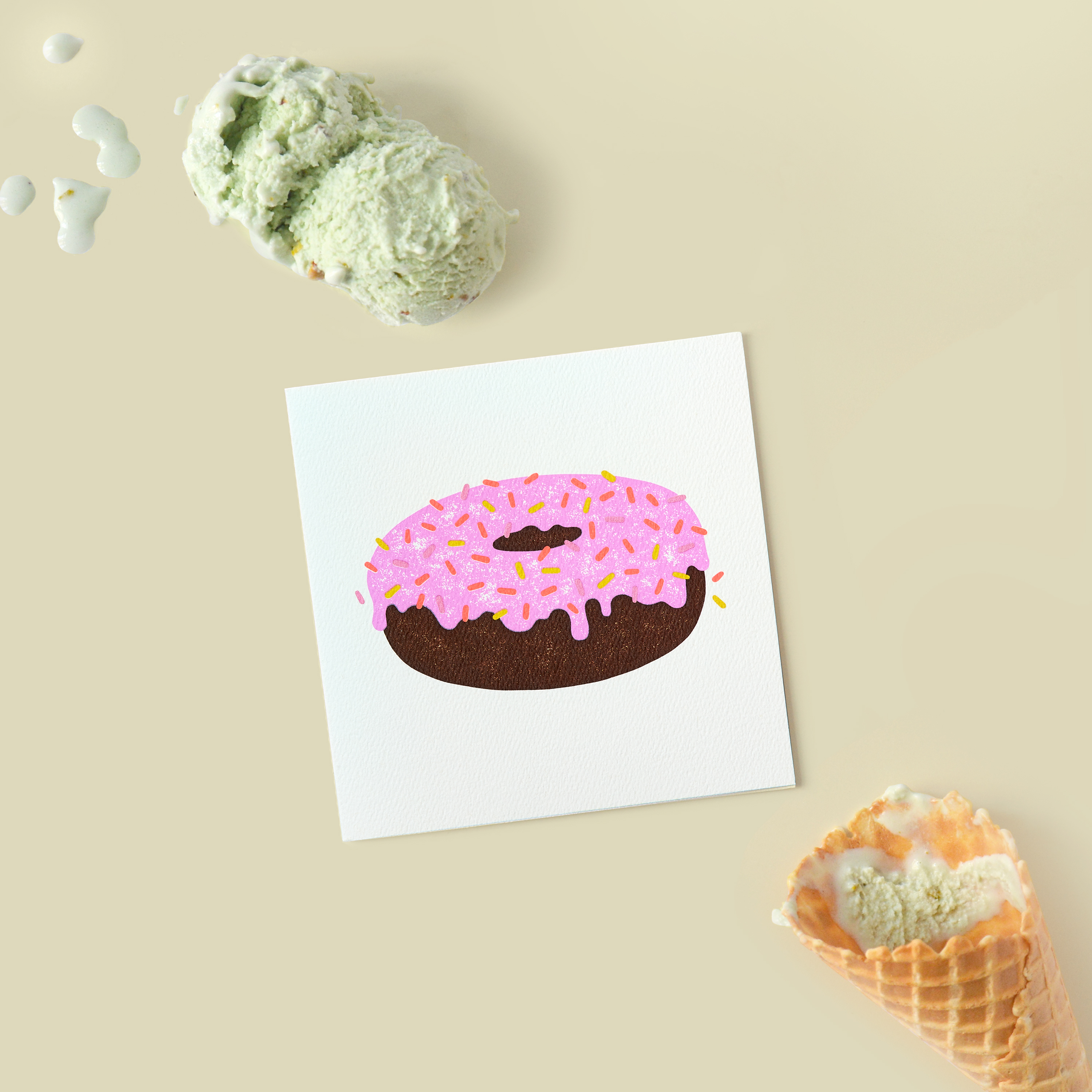 Doughnut Blank Card - Birthday, Friendship, Thinking of You image