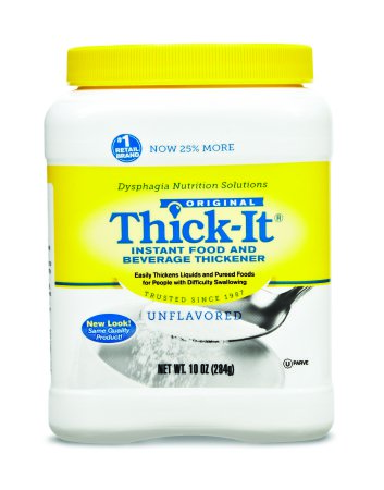 Thick-It Food and Beverage Thickener 10 oz. Canister Unflavored Ready to Use Consistency Varies By Preparation, J584-H5800 - EACH