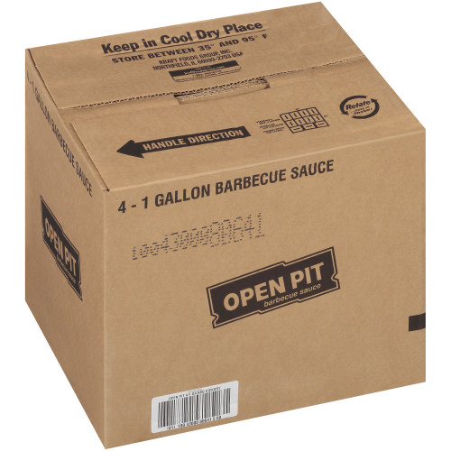 OPEN PIT Hickory Smoke BBQ Sauce, 1 gal. Jugs (Pack of 4)