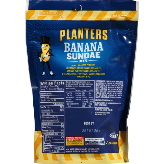 PLANTERS Banana Sundae Mix 6 oz Bag