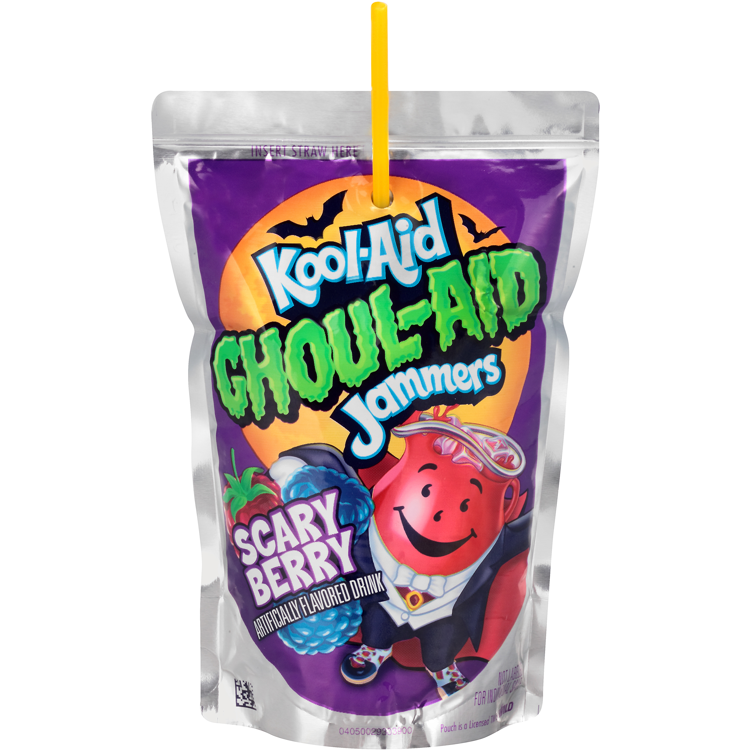 Kool-Aid Jammers Ghoul-Aid Scary Berry Flavored Drink 60 fl oz Box (10-6 fl oz Pouches) image