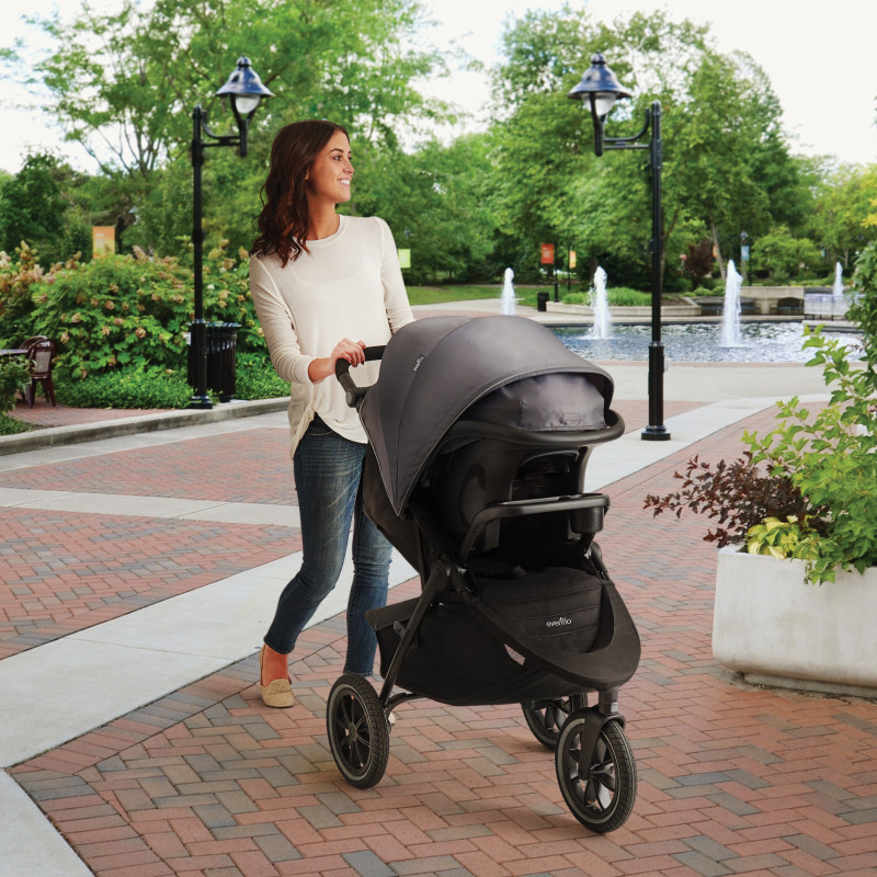 Folio3 Stroll & Jog Travel System with LiteMax 35 Infant Car Seat (Avenue) Lifestyle Photo