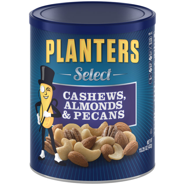PLANTERS Select Almonds, Cashews, and Pecans 15.25 oz Can image