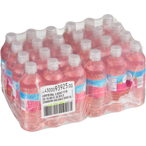 Crystal Light Sugar-Free Ready-to-Drink Strawberry Kiwi Bottles, 16 oz. Plastic Bottle (Pack of 24)