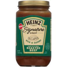 Heinz Signature Rich & Savory Roasted Beef Gravy 12 oz Jar image