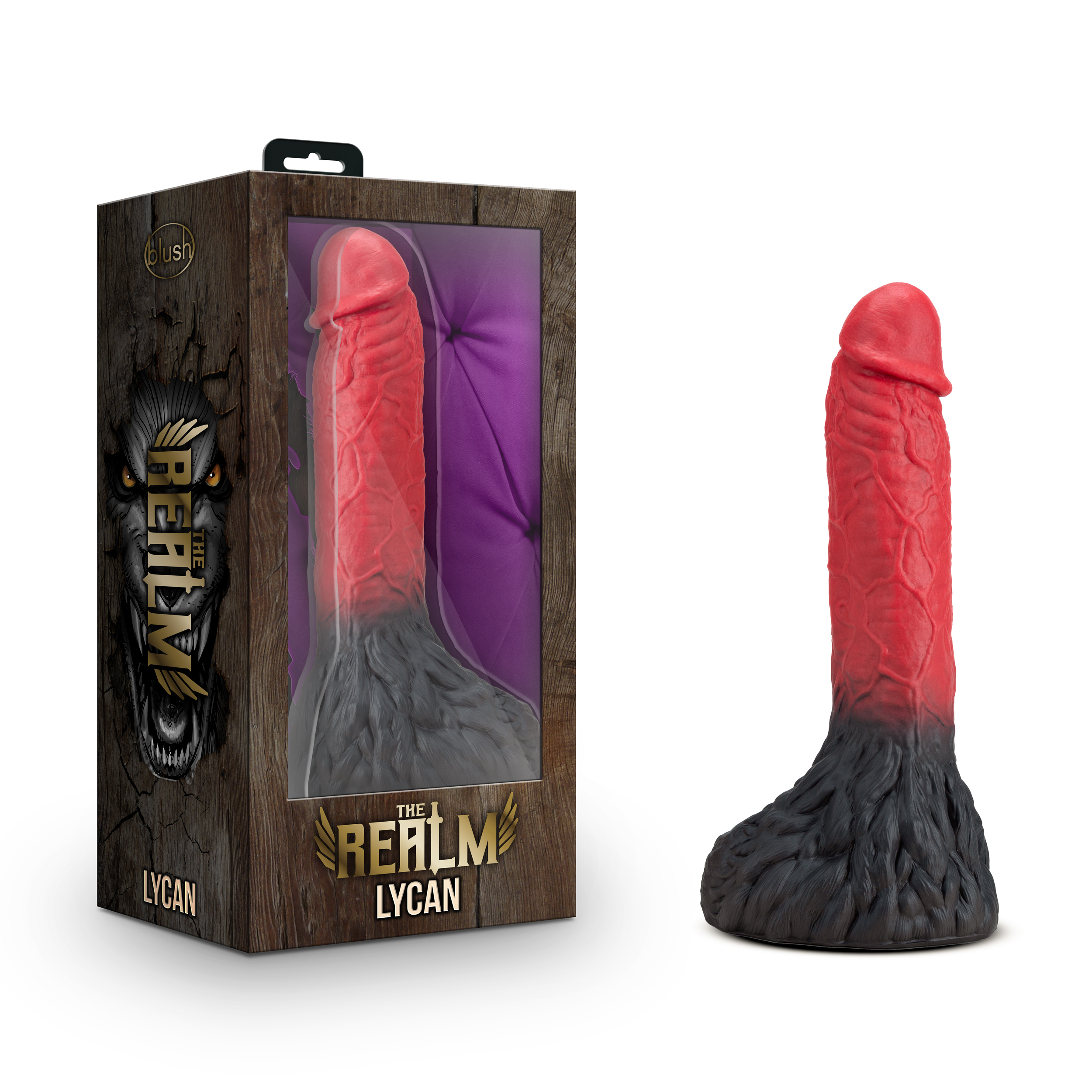 The Realm - Lycan - Lock On Werewolf Dildo - Red